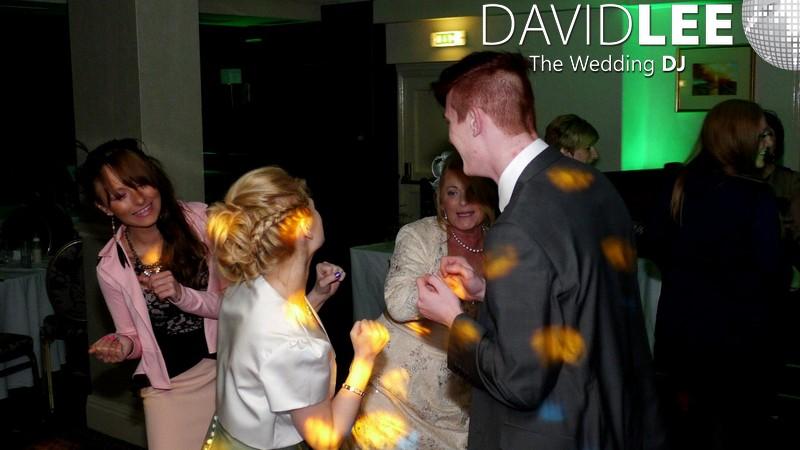 Wedding Guests dancing at Alderley Edge Hotel