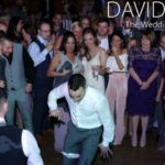 Groom doing the dance off