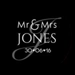 Mr & Mrs Monogram 25
