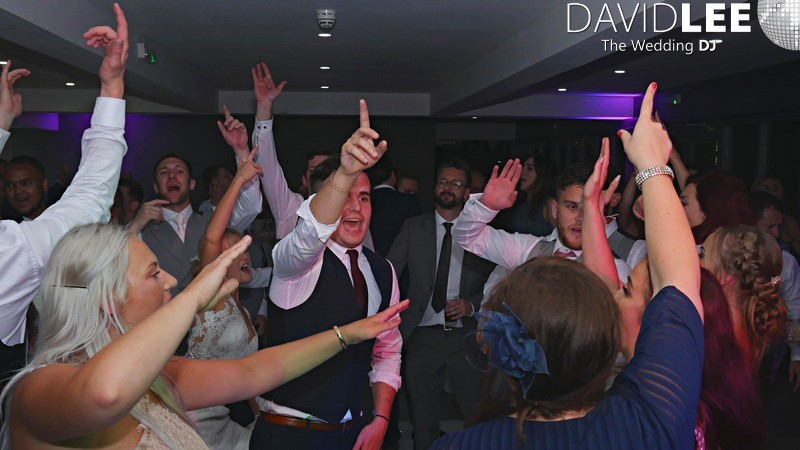 Manchester Hall wedding guests dancing the night away