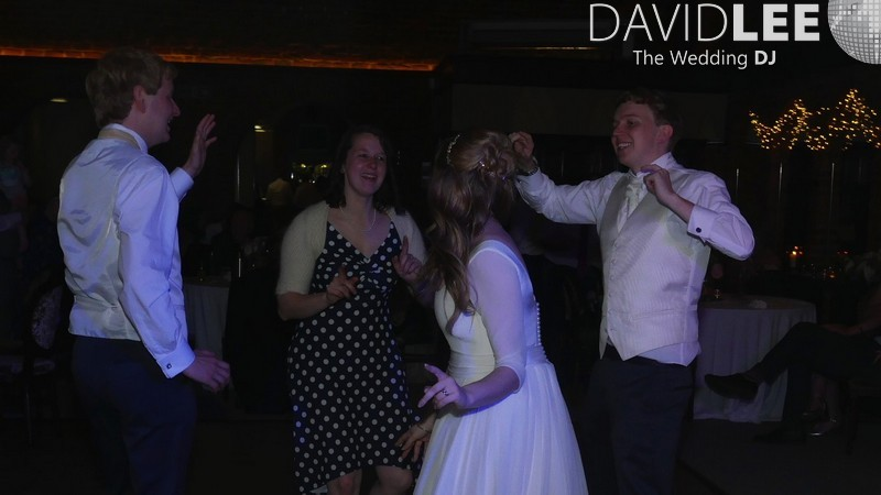 A dancing cheshre bride