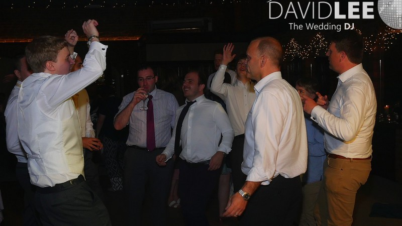 Lads Dancing at Cheshire Weddding